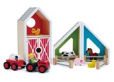 Wooden Barn Play Set, 16 pieces