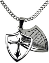 Courage Shield Cross Necklace