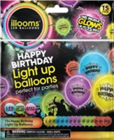 Illoom Happy Birthday Balloons, Pack of 15