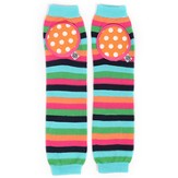 Happy Knees Legwarmers, Sassy Sprinkle Stripe, Pink, Orange and Blue
