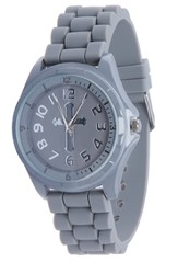 Silicone Watch with Cross, Gray, Large