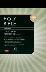 NKJV Personal Size Giant Print Reference Bible, Hardcover, Black