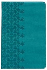 NKJV Large Print Ultraslim Reference Bible, Leathersoft Rich Turquoise