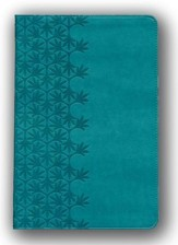 NKJV Large Print Ultraslim Reference Bible, Leathersoft Rich Turquoise Indexed