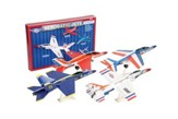 Aerobic Jets Kit, 4 Gliders with Display Stands