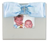 Bow Photo Frame with Bling, Blue