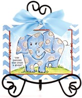 Elephant Easel Art, Blue