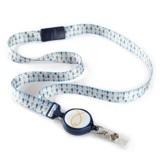 ID Ribbon Lanyard With Retractable Reel