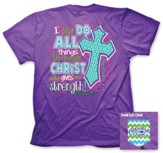 I Can Do All Things Shirt, Purple, XXX-Large