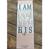 Silver Cross Necklace with I Am the Daughter of a King Bookmark