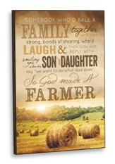 Mounted Wall Art - Farmer Family