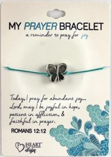 Prayer Bracelet, with Butterfly