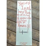 Silver Cross Necklace with You Are Loved Bookmark