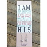 Silver Cross Earrings with I Am the Daughter of a King Bookmark