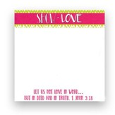 Show Love Chevron Notepad, Lime
