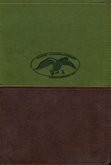 NKJV Duck Commander Faith & Family Bible, Soft  leather-look, Green/Brown