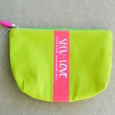 Show Love Zipper Bag with Tassel, Lime