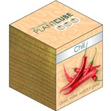 Ecofriendly Plant Cube, Indoor Grow Kit, Chili Pepper