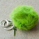Lime Puff With Cross, Keychain