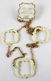 Quatrefoil Necklace, White