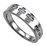 Armor of God, Calvary Women's Ring, Size 8 (Ephesians 6:11)