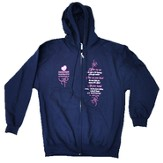 Moms in Prayer Sweatshirt, Navy Blue with Hood - Small