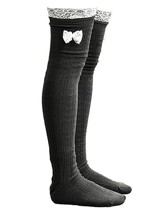 Lace Boot Socks, Dark Gray