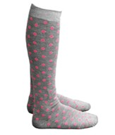 Polka Dot Knee High Socks, Pink