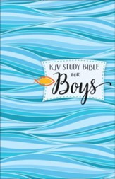 KJV Study Bible for Boys, hardcover - Imperfectly Imprinted Bibles