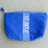 Be Bold Zipper Bag with Tassel, Blue