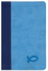 KJV Study Bible for Boys Blue/Light Blue Duravella - Slightly Imperfect