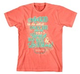 Ask God To Do What Only He Can Do Shirt, Coral, Small