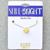 Shine Bright Stone Necklace, Yellow