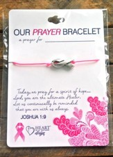 Breast Cancer Bracelet, Ribbon
