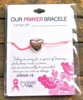 Breast Cancer Bracelet, Heart