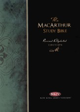 NKJV MacArthur Study Bible - Revised & Updated  Black Bonded Leather, Thumb Indexed - Slightly Imperfect