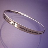 May the Road Rise Up to Meet You Mobius Bracelet