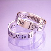 Love Is Patient, Love is Kind Ring, Size 5 - Slightly Imperfect