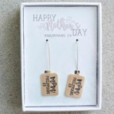 Mom, Philippians 1:3, Gold Earrings