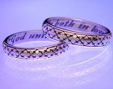 God Unite Us Both In Love, Sterling Silver Ring, Size 10
