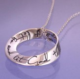 Let Go And Let God, Sterling Silver Mobius Necklace
