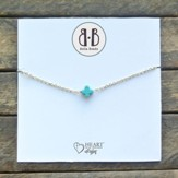 Turquoise Stone Cross Necklace