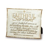 Faithful Servant Plaque, Tan