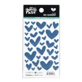 Mrs. Blueberry, Heart Stickers, Navy