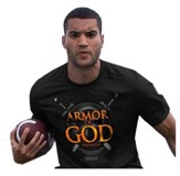 Armor Of God, Short Sleeve Regular Fit Tee Shirt, Black, Adult 4x-Large