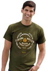 Living Water Shirt, Military Green,  3X-Large