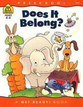 Language Skills-Does It Belong?   Preschool Get Ready Workbooks