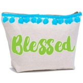 Blessed Canvas Everything Bag with Pom Poms