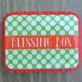 Blessings Box, Polka Dot, Green