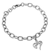 Joy Handwriting Heart Bracelet, Adjustable